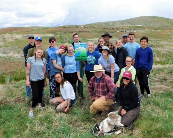 Town of Granby, Colorado, Upper Colorado River Watershed Group, Rotary Club of Grand Lake and Interact of Middle Park High School volunteers for Adopt a Waterway Smith Creek