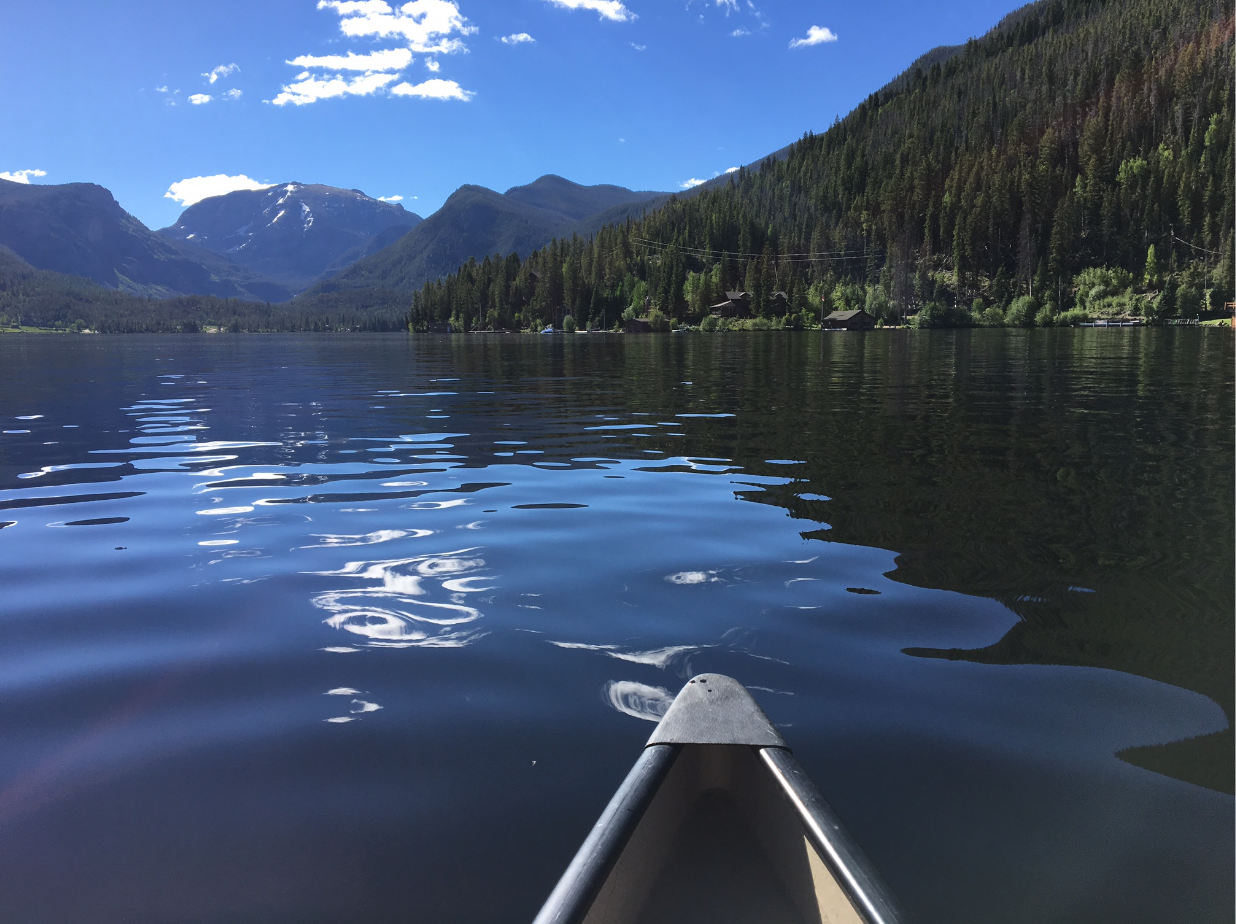 Grand Lake by canoe